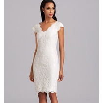 Vestido Importado Eg Elegante Clássico Fino Em Renda Branco