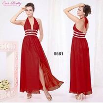Lindo Vestido Vermelho Longo Importado Ever Pretty