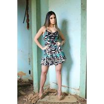 Vestido De Linho Estampado #2619