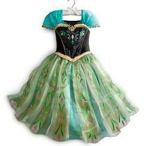 Fantasia Luxo Frozen Anna - Tamanhos 2-12 Anos