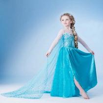 Fantasia Luxo Frozen Disney Elsa - Tamanhos 4-10 Anos