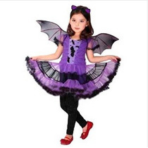 Fantasia Infantil Feminina Bat Girl Roxa Frete Grátis+brinde