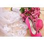 Vestido De Noiva Plus Size 46/48 + Sapato Rosa. Lindos!!!