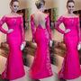 Vestido Fesa Formatura Casamento Frete Gratis Rosa Renda