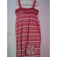 Vestido Alcinha Rosa E Vermelho Listrado E Estampa Kyly 8