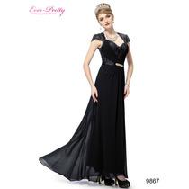 Vestido Festa, Longo, Ever Pretty=m\xg=95 Cm - 120 Cm Busto