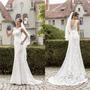 Vestido De Noiva Sereia Com Cauda Em Renda Nobre Sob Medida