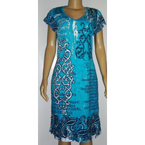 Vestidos Malha De Viscose Cia Das Índias-tam 46 A 50