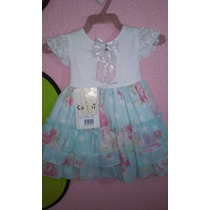Vestido Festa Cattai - Infantil - Tamanho P E G