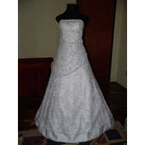 Vestido Noiva Bordado Seda Renda Casamento