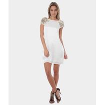Vestido Animale A. Brand Seda Branco Perolado