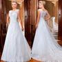 Vestido Noiva Importado Sob Encomenda - Romântico Sem Mangas