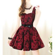 Vestido Festa Rosas Noite Qualidade Novo Lindo Pronta Entreg
