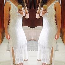 Lindo Vestido De Fenda Longo Tricot Moda Vestido Verão 2016