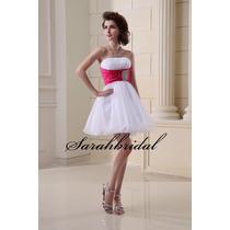 Vestido De Noiva Debutante Branco Pink Novo - Pronta Entrega
