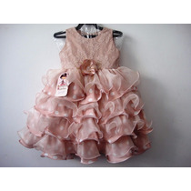 Vestido Infantil Festa Luxo Babado 1037-bambina Frete Grátis