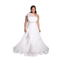 Vestido De Noiva Estilo Grego Em Renda Plus Size Sob Medida