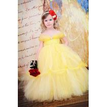 Vestido Menina Princesa Bela De Bela E A Fera