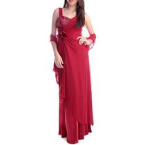 Vestido De Festa Longo Vermelho Para Madrinhas, Casamentos