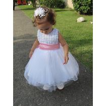 Vestido De Dama Daminha Princesa Branco