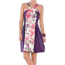 Vestido Belle & Bei Florido Patchwork Violeta