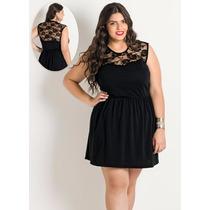 Vestido De Balada Preto Plus Size