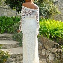 Mega Promoção Vestido De Noiva Luxo Sob Medida Renda Guipiur