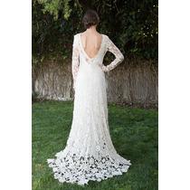 Vestido De Noiva Em Renda Guipiur - Luxo Sob Medida