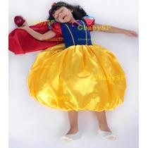Roupa Da Branca De Neve - Vestido Fantasia Festa Princesas