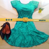 Vestidos Curtos Lindos Rodado Moda +barato +cinto Retrô