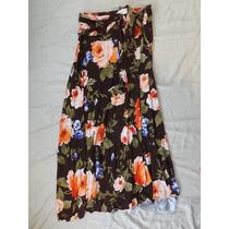 Vestido Tomara Que Caia/ou Saia Marrom Flor Tam Unico Marro