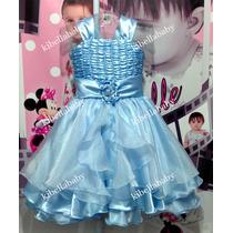Vestido Infantil Cinderela Tam: 4 Ao 12