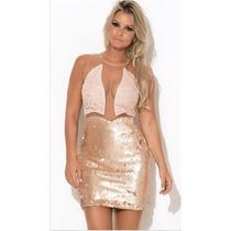 Vestido Delicato Nude Max Glamm Ref 99982