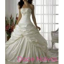 Vestido De Noiva Princesa M Pronta Entrega Novo Cauda