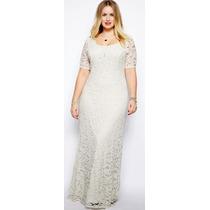 Vestido De Noiva Plus Size De Renda Sob Medida G, Gg, Exg
