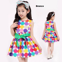 Lindo Vestido Infantil Com Bolinhas Frete Grátis