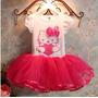 Vestido Infantil Festa Hello Kitty Aniversário Princesa