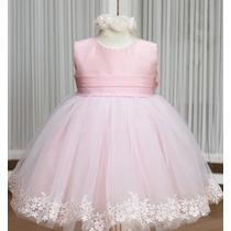 Lindo Vestido Rosa P/sua Princesa Menina Festa Casamento