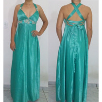 Vestido Feminino Social Longo Verde