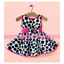 Vestido Da Minnie Infantil Pronta Entrega