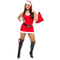 Fantasia Mamãe Noel,vestido,natal,natalina,kit 5 Pçs
