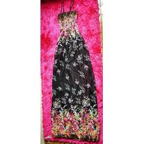 Vestido Longo Floral Florado Estampado Fresquinho Veráo