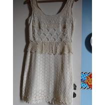 Lindo Vestido Shop 126 Renda Guipir Tam P Novo Com Etiqueta