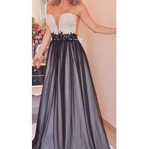 Maravilhoso Vestido Em Renda Com Tule E Perolas