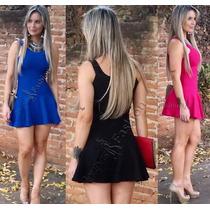 Frete Gratis Vestido Festa Curto S/renda Pronta Entrega Moda