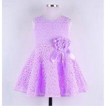 Vestido De Renda Importado Á Pronta Entrega - Rosa Ou Lilás