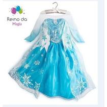 Fantasia Luxo Frozen Disney Elsa - Pronta Entrega