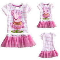 Vestido Peppa Pig Bailarina - Pronta Entrega
