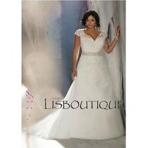 Vestido Noiva Renda Rendado Plus Size Alça Pronta Entrega