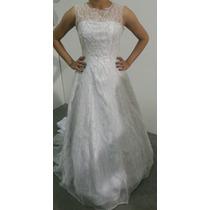 Vestido Noiva Dois Em Um Branco Com Capa